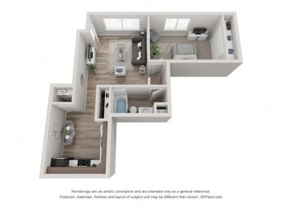 Floor Plan  Cedar Floor Plan - Eagle Creek Apartments