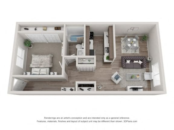 Floor Plan  Elm Floor Plan - Eagle Creek Apartments