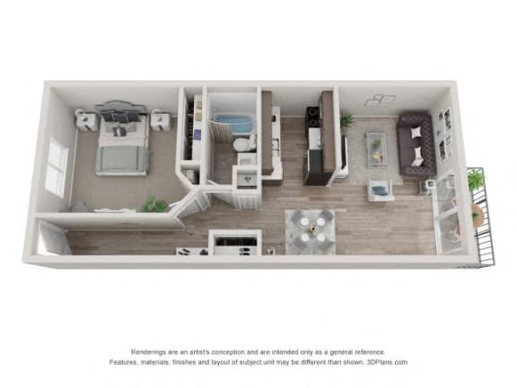 Floor Plan  Fir Floor Plan - Eagle Creek Apartments
