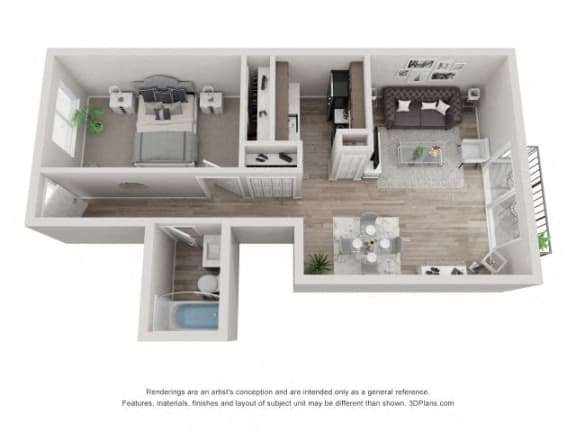 Floor Plan  Hickory Floor Plan - Eagle Creek Apartments