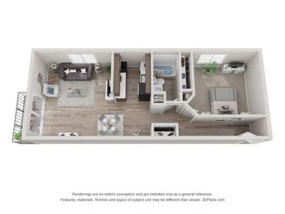 Floor Plan  Maple Floor Plan - Eagle Creek Apartments