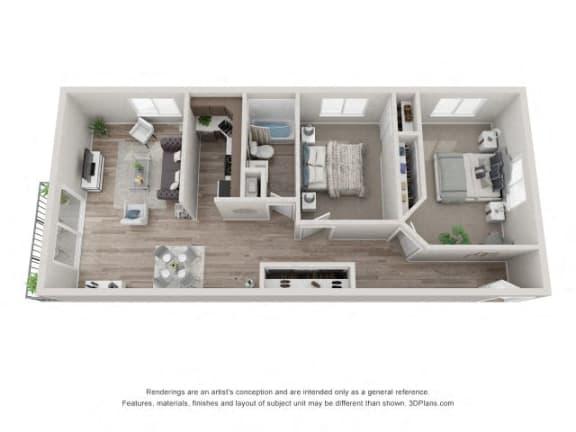 Floor Plan  Oak Floor Plan - Eagle Creek Apartments