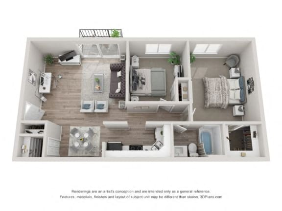 Floor Plan  Willow Floor Plan - Eagle Creek Apartments