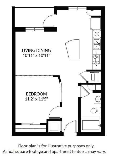 A1 - BW(1) Floor Plan at Windsor at Delray Beach, Delray Beach, 33483