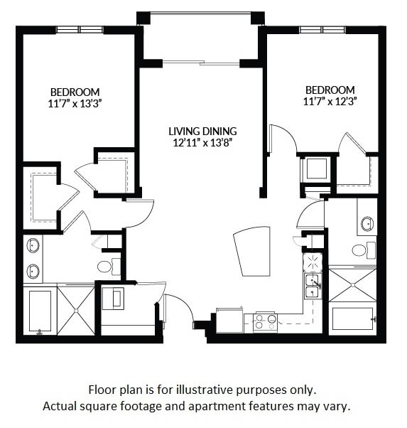 Floor Plan  B2 - BW Floor Plan at Windsor at Delray Beach, Florida