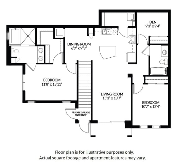 Floor Plan  B3 - BW Floor Plan at Windsor at Delray Beach, Florida