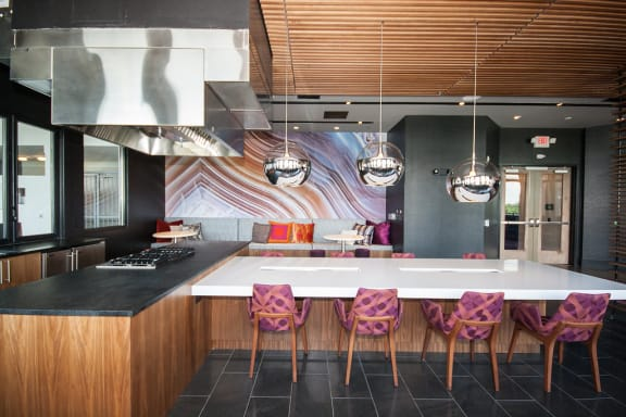 Sky Lounge with Demonstration Kitchen at Morningside Atlanta by Windsor, Atlanta, GA 30324