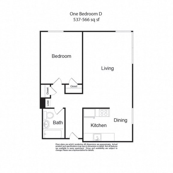 Floor Plan  LockVista FP|OneBedroomD|1b1b|537-566sf