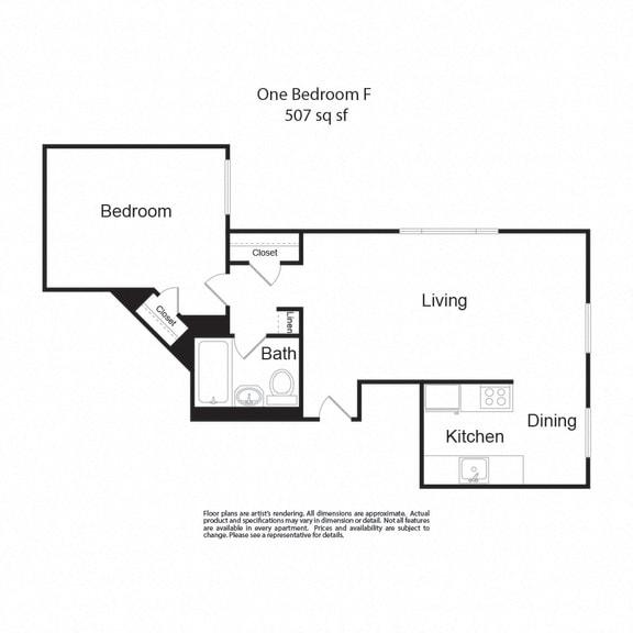 LockVista FP|OneBedroomF|1b1b|507sf