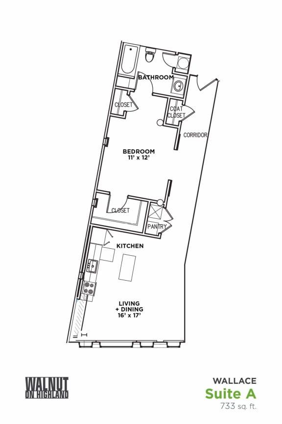 Floor Plan  Walnut on Highland, opens a dialog