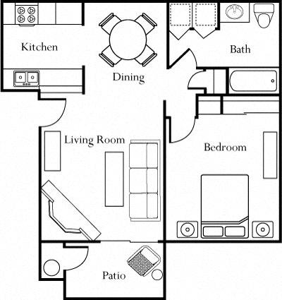 Floor plan at The Edge, Davis, 95618