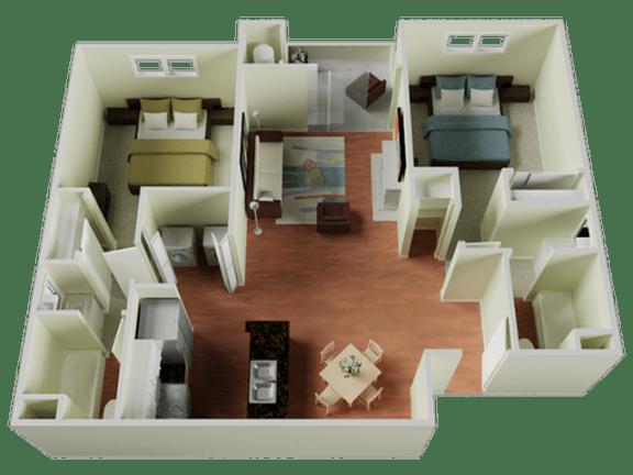 Floor plan at The Edge, Davis,California