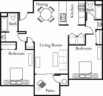 Floor plan at The Edge, Davis, CA 95618
