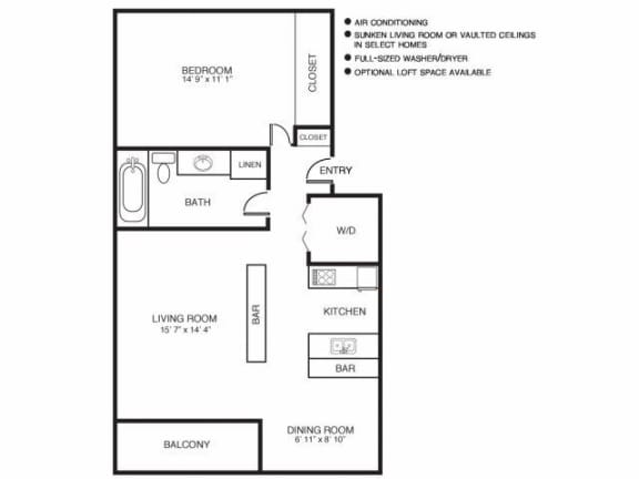 Floor plan at Canyon Park, Beaverton
