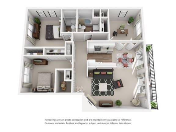 Floor plan at Canyon Park, Beaverton, 97005