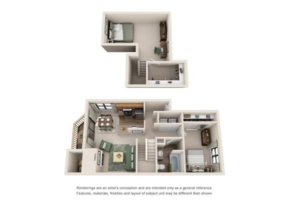 Floor Plan  1 Bed 1 Bath Floor Plan at Sorrento Bluff, Beaverton