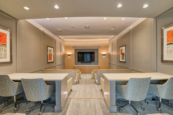 Screening Room featuring Surround-Sound at Windsor Lantana Hills, Austin, 78735