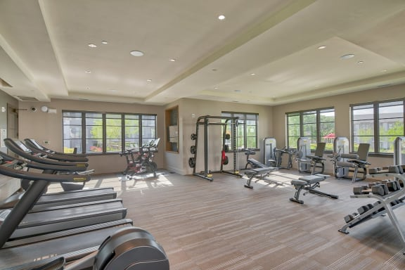 24/7 Fitness Center For Residents at Windsor Lantana Hills, Austin, TX