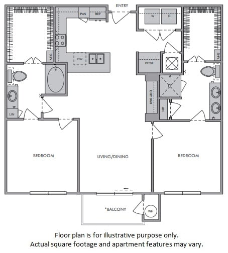 Floor Plan  E Floor Plan at Windsor Lantana Hills, Austin, TX