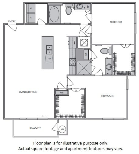 Floor Plan  F Floor Plan at Windsor Lantana Hills, Austin, 78735