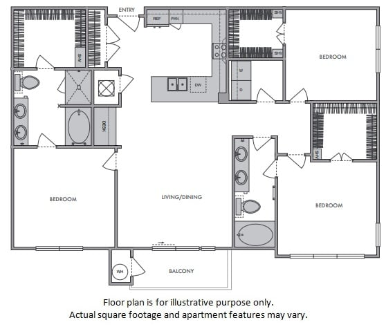 Floor Plan  H Floor Plan at Windsor Lantana Hills, Austin