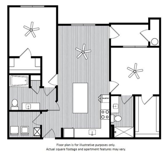 Floor Plan  Floor Plans at Windsor Republic Place, Austin, 78727