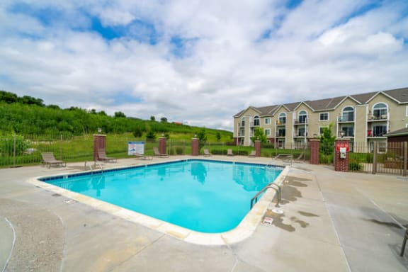 Sparkling Pool with Wi-Fi at Lynbrook Apartments and Townhomes, Elkhorn, Nebraska