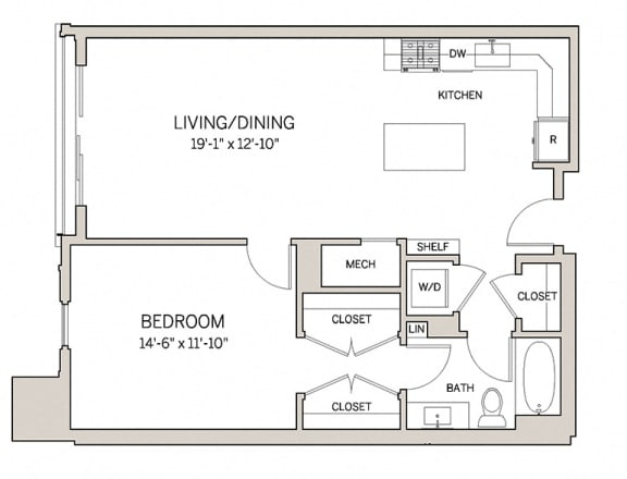 1 Bed 1 Bath A10 at AVE King of Prussia, King of Prussia, PA