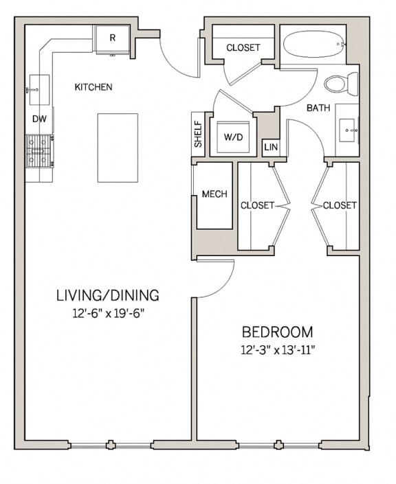 1 Bed 1 Bath A12 at AVE King of Prussia, King of Prussia, 19406