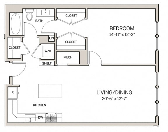 1 Bed 1 Bath A13 at AVE King of Prussia, King of Prussia, PA