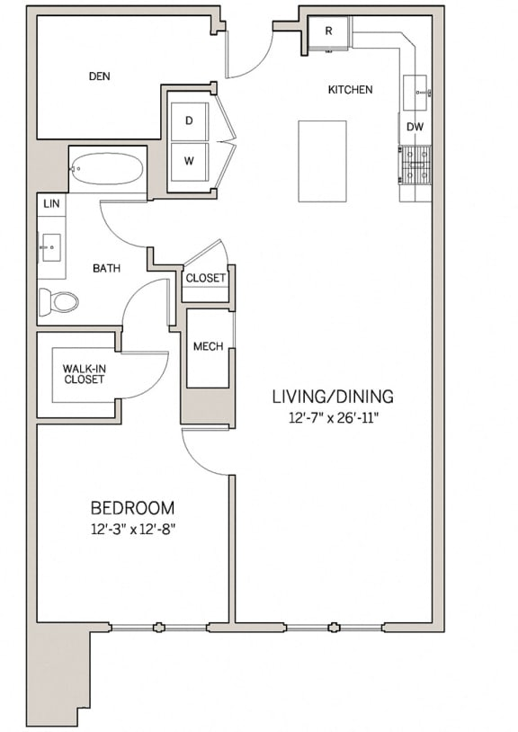 1 Bed 1 Bath Den A19D at AVE King of Prussia, Pennsylvania, 19406