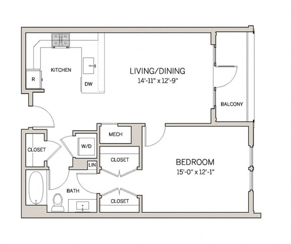 1 Bed 1 Bath A5 at AVE King of Prussia, Pennsylvania, 19406