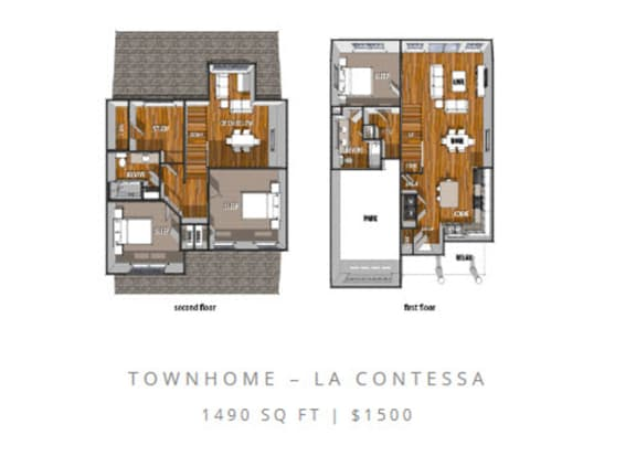 Floor Plan  Floor Plan at La Contessa Luxury Apartments, Laredo, TX 78045