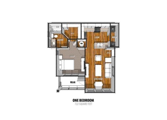 Floor Plan at La Contessa Luxury Apartments, Laredo, TX