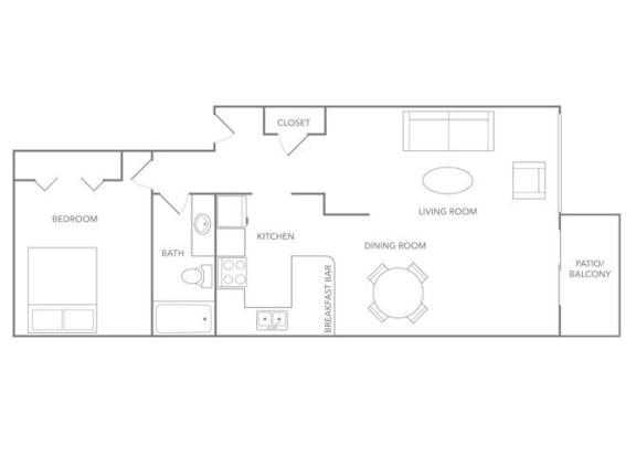 Aruba 1000B Floor plan at Paradise Palms, Phoenix, AZ