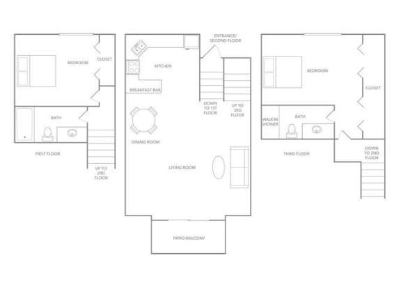 Bermuda 1275B Floor plan at Paradise Palms, Arizona, 85014