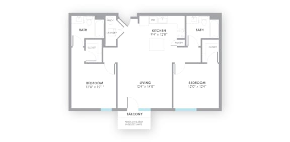 Fuse Floor Plan at AMP Apartments, Louisville, KY