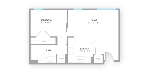 Gauge Floor Plan at AMP Apartments, Kentucky