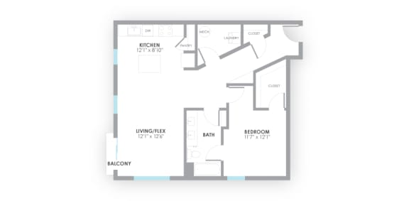 Junction Floor Plan at AMP Apartments, Kentucky