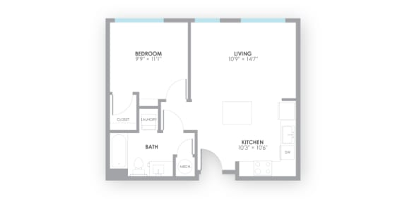 Relay Floor Plan at AMP Apartments, Kentucky, 40206