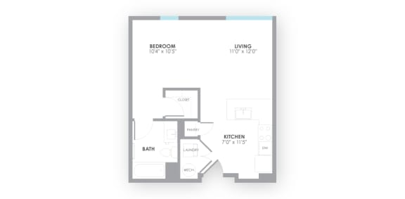 Surge2 Floor Plan at AMP Apartments, Louisville