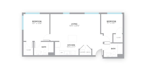 Switch Floor Plan at AMP Apartments, Louisville, KY, 40206