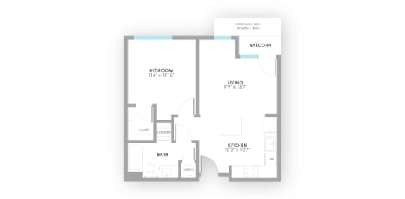 Volt Floor Plan at AMP Apartments, Louisville, KY