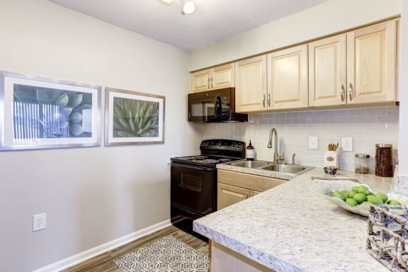 Contemporary Kitchen Finishes at Arborview at Riverside and Liriope, Maryland, 21017
