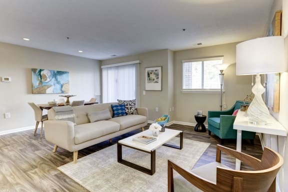 Pet-Friendly Apartments in Belcamp Maryland - Arborview at Riverside and Liriope Living Room