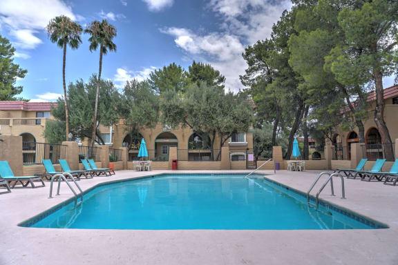 Pool & Pool Patio at The View At Catalina Apartments in Tucson, AZ