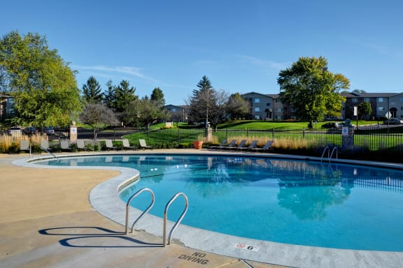 Sparkling Swimming Pool and Sundeck at Woodlands of Crest Hill-New, Crest Hill, IL