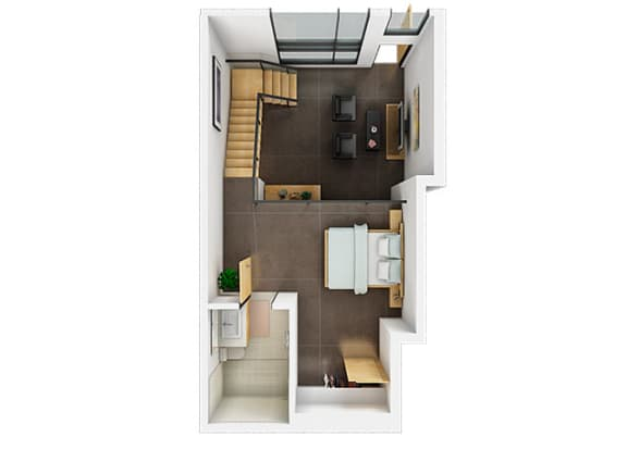 Floor plan at Potrero Launch, California