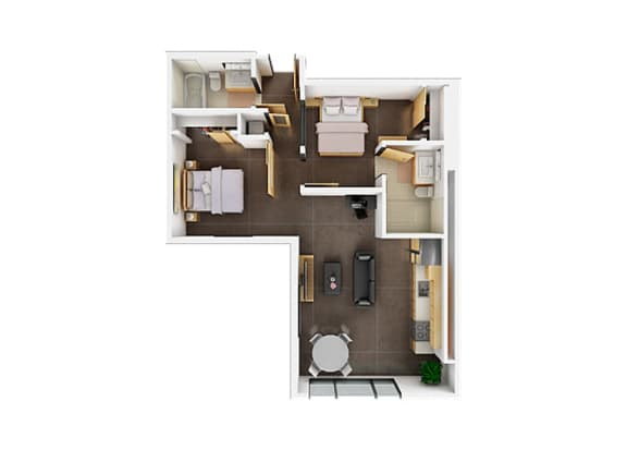 Floor plan at Potrero Launch, San Francisco, CA 94107