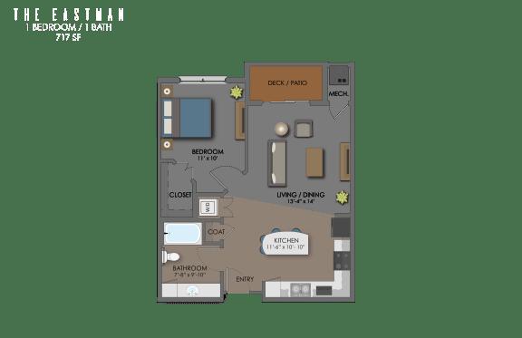 Floor plan at The Edison at Avonlea, Lakeville, MN,55044
